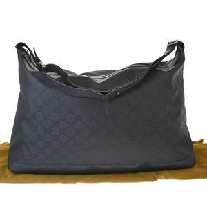 Authentic GUCCI GG Pattern Travel Shoulder Bag Nyl